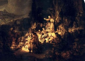 "Rembrandt, ""The Preaching of John the Baptist"" (1635)"