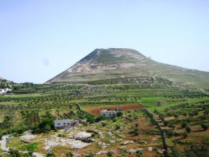 The hill on which the Herodian was perched dominated the landscape.