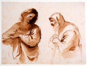 Guercino (Giovanni Francesco Barbieri) Two Figures (no date)