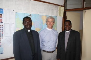 From left: ZTC Principal Kutundu, Jeff Tindall, and Vice-Principal Gunya