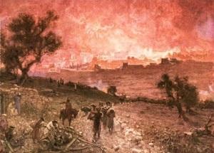 The Destruction of Jerusalem by Nebuzar-adanWilliam B. Hole (1910)