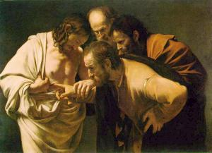 The Incredulity of Saint Thomas, by Caravaggio (1601)