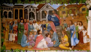 Paul Preaching to the Gentiles, Mural in St. Paul's Church, Tranquillity, CA (20th c.)