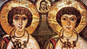 Saints Sergius and Bacchus (Seventh Century Mural)