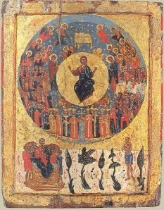 The Second Coming Of Christ, Greek Icon, 1700