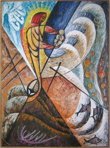Holy Baptism, by Libuse Lukas Miller (1915-1973). Used by permission http://libuselukasmiller.com