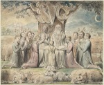 Job and His Family, Watercolor by William Blake (pub. 1826)