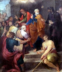 Peter's Conflict with Simon Magus by Avanzino Nucci, 1620