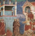 Giotto di Bondone (1267-1337),  St Francis before the Sultan (Trial by Fire)