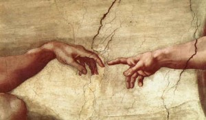 The Creation of Adam, Michelangelo (detail), 1511-12