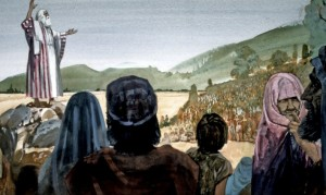 Joshua addresses the people