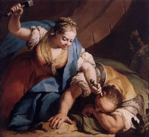 Jael and Sisera, Jacopo Amigoni (1739)