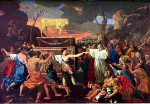 The Adoration of the Golden Calf, Nicolas Poussin (1633)