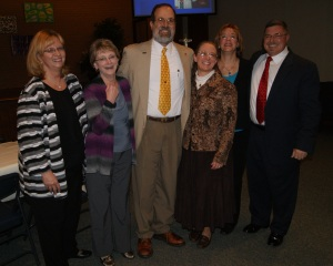 Thanks to the folks who worked so hard on this amazing event.  Here: Joann, Barb, Cheri, and Glenn join Sharon and me.