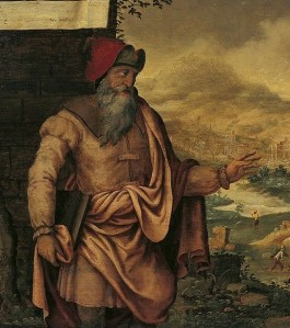 Maarten van Heemskerck, Detail from Prophet Isaiah predicts the return of the Jews from exile (c. 1560)