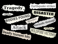 9481510-newspaper-cuttings-and-headlines-natural-disasters-and-tragedies