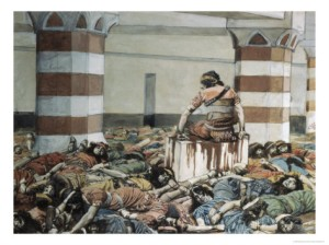 James Tissot (1836-1902), Abimelech Slays His Seventy Brethren