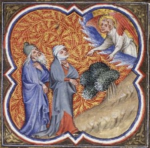 The Birth of Samson Jean Bondol, Bible Historial, 1372.