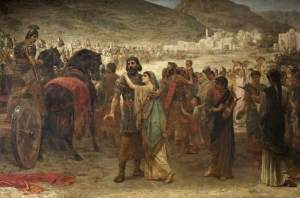 Jephthah's Vow: The Return, Edwin Long (1885-86)