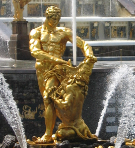 The Fountain of Samson in Kiev, Ukraine