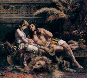 Samson and Delilah, José Echenagusía (1887)