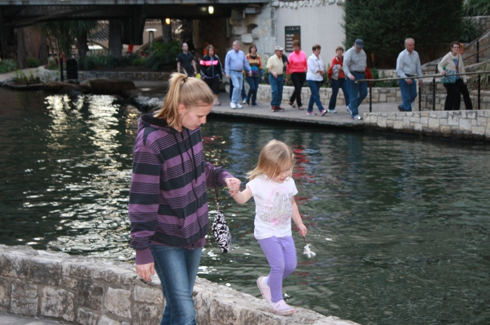 The Riverwalk is a great place to enjoy new sights and sounds and for people of all ages to play a little bit!