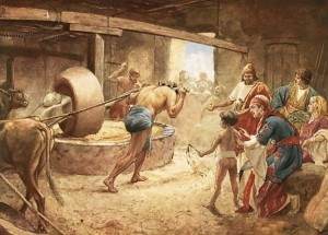 Samson Grinding Grain, William Brassey Hole (1846-1917)