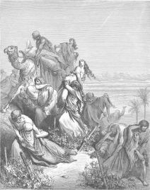 The Benjamites Take the Virgins of Jabesh-gilead, Gustave Doré, 1866.