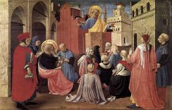 St Peter Preaching in the Presence of St Mark, Fra Angelico (c. 1433)