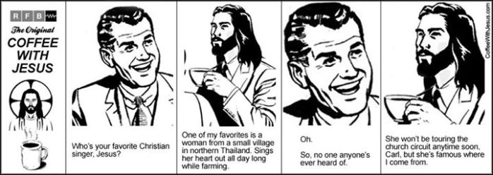 Coffee With Jesus, used by permission of the artist.  For more, see www.coffeewithJesus.com