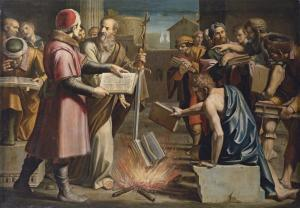 St. Paul and the Burning of the Pagan Books at Ephesus, Lucio Massari (1569-1633)