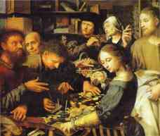 Jesus Summons Matthew to Leave the Tax Office  Jan Sanders van Hemessen, 1536