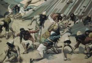 """Quails are Sent to the Israelites"" James Tissot (1836-1902)"
