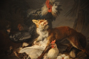 Fox in a Chicken Yard - Jean-Baptiste Marie Huet 1766