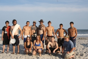 """One of the young people who had never seen the beach before asked, """"Pastor Dave, can we please just take a photo of our group now?""""  Some of the team had already headed for the shower, but here's a memory..."""