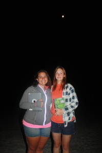 Lexi and Corie in the moonlight after sharing their stories with our team.