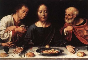 """The Last Supper"" (detail) (c. 1530) Joos van Cleve"