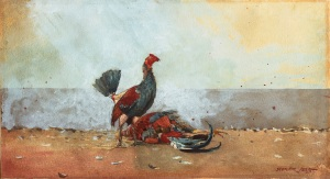 The Cock Fight (1885), Winslow Homer