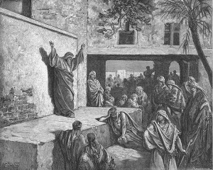 Micah Exhorting the Israelites to Repentance, Gustav Dore, 1870