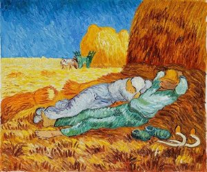 Noon - Rest From Work, Vincent Van Gogh, 1890