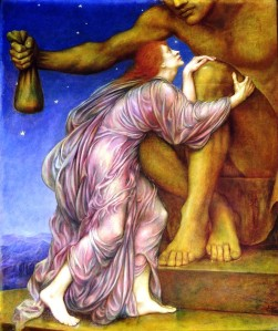 The Worship of Mammon (1909) Evelyn De Morgan.
