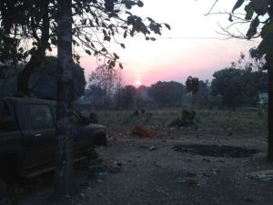 Sunrise in South Sudan.  There is a good bit of damage and loss...but every reason for hope.  Life remains!  Life is a gift!