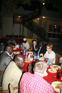 Gathering around good food in a great place - the Juba Bridge Hotel