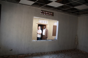 Pastors Gary, Deng, and Philip in the (still-being-remodeled) denominational headquarters in Juba.