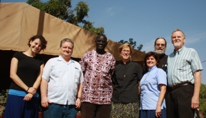Our team with Pastor Thomas Tut, who shared his passion for ministry with prisoners and orphans.