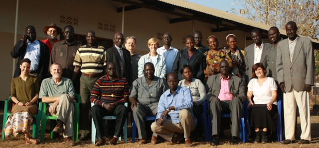 The group of 23 who shared the time in Yei.