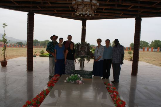At the Garang memorial.