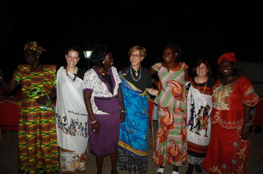 We were presented with lovely gifts by the Women's Desk at a farewell banquet on Sunday evening.