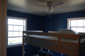 The blue room nears completion!