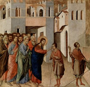 The Healing of a Blind Man, Duccio di Buoninsegna c. 1310